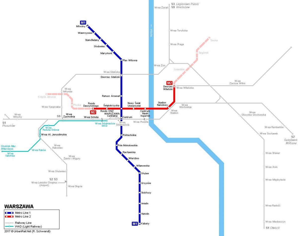 Poland metro map - Metro map Warsaw poland (Masovia - Poland)