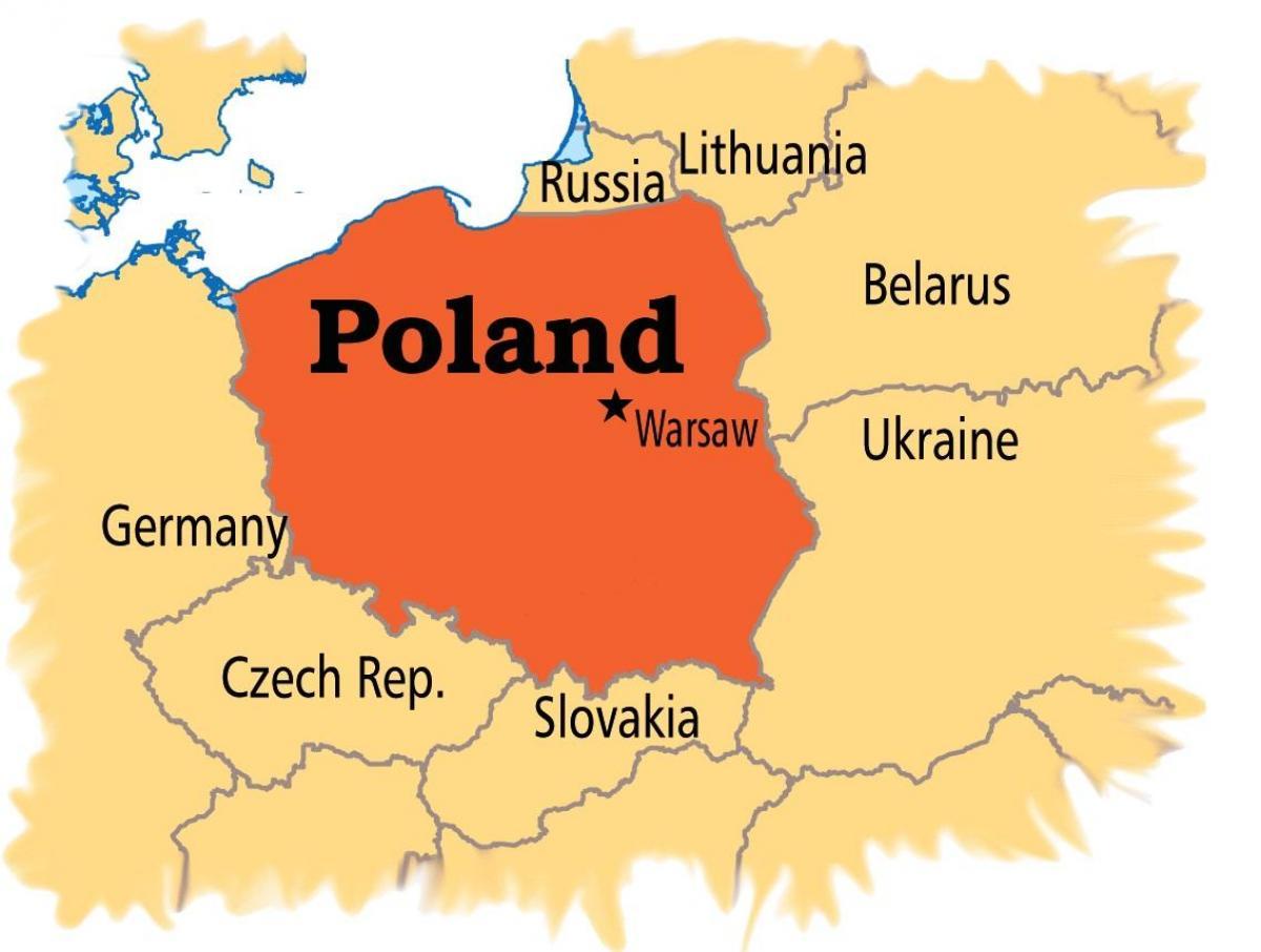 Warsaw Map Europe Map Of Warsaw Europe Masovia Poland